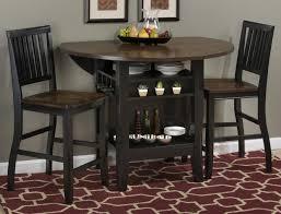 braden antique black 48 round drop leaf counter height table com