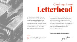 Design Your Own Letterhead Two Most Simple Ways To Create Your Own Letterhead