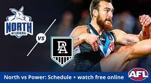 North Melbourne vs Port Adelaide AFL ...