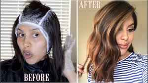 L Oreal Paris Frost And Design Highlights Champagne Diy Highlights Using Cap Revlon Frost Glow Highlighting Kit