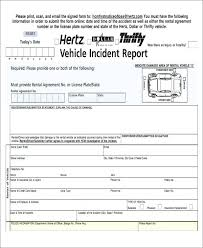 Network Incident Report Template Format Employee Accident Form