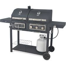 backyard grill dual gas charcoal com with uniflame outdoor lp barbecue and 5065d40e 7b93 4124