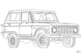 1966 Ford Bronco Coloring Page | Free Printable Coloring Pages ...