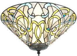 stained glass ceiling light. Tiffany Style Stained Glass Ceiling Lights Art 2 Lamp Flush Light