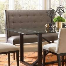 dining room table with upholstered bench. Upholstered Bench With Back And Nice Room Dining Table