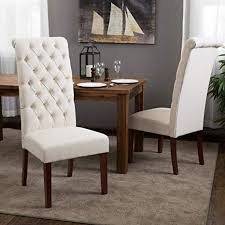 amazon best selling natural tall tufted dining chair 2 pack chairs