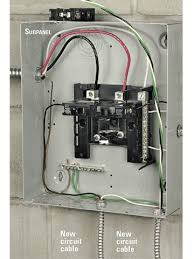 installing an electrical subpanel better homes & gardens 240v sub panel wiring diagram step 5 finish connecting wires