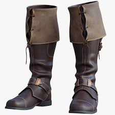3d pirate boots