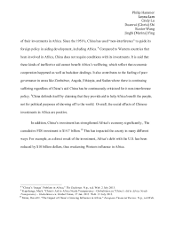 fbec chinese investment in africa essay 6