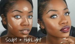 makeup tutorial sculpt highlight bold lip cydnee black if you