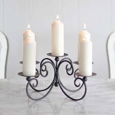 five pillar candelabra pillar candle holder perfect for table centrepiece w31 x d30cm gift for new
