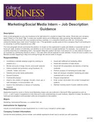 International Business Intern – Job Description Guidance Description