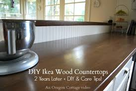 diy ikea wood butcher block countertops 2 years later care tips