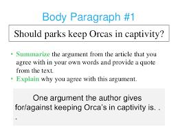 killer whale persuasive essay 8