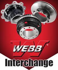 Brake Pad Cross Reference Chart Webb Wheel Brakedrums Hubs Rotors