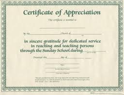Printable Appreciation Certificates Printable Certificates Of Appreciation For Church Download Them Or