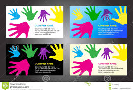 Hands Business Card Template Design Stock Vector Illustration Of