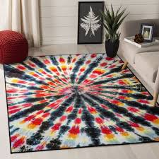 safavieh paint brush black pink area rug 3 x 5