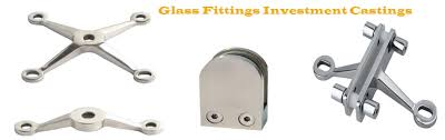 Investment Casting Glass Fitting Investment Casting Parts Ss Glass Fitting
