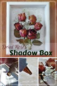 #FridayFrivolity - Dried Rose Shadow Box - simple but beautiful way to  display dried flowers