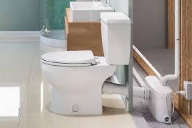 how do saniflo up flush toilets work
