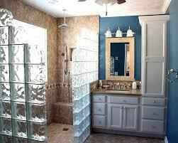 walk in showers.  Showers Walkin Shower With Glass Block Surround On Walk In Showers S