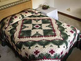 Eureka Quilt -- great skillfully made Amish Quilts from Lancaster ... & Green and Burgundy Eureka Quilt Photo 1 ... Adamdwight.com
