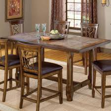 kitchen counter height kitchen tables fresh villagio trestle counter height dining table by hilale home
