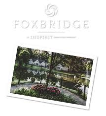foxbridge offers small home style cottages catered to varying levels of assisted living and memory care