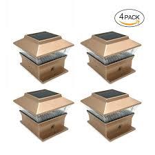 4x4 Wood Post Lights Amazon Com Solar Led White Outdoor Garden Deck Patio Fence