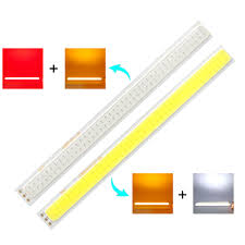 Us 2 9 6 Off Cooleeon 170 15mm Double Color Led Cob Strip Lamp For Car Tail Turn Signal Light Diy 12v 2w 17cm Led Bar Lights Decor Bulb 170mm In Led