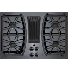 gas cooktop with downdraft. Contemporary Downdraft GE Profile Series PGP9830DJBB 30 In Gas Cooktop With Downdraft A