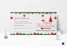 Printable Merry Christmas Gift Certificate