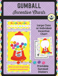 Class Incentive Chart Printable Ez Cut Incentive Chart Printables Gumballs