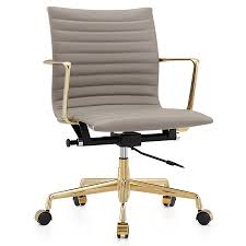 marquis gold gray leather modern office chair  eurway