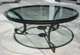 wrought iron side table. Nice Round Wrought Iron Coffee Table With Appealing Glass And Antique Black Side I