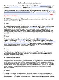 Commercial Lease Agreement In Word Free California Commercial Lease Agreement PDF Word Doc 2