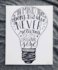 Light Bulb Word Art Calligraphy Word Art Light Bulb Albert Einstein Quote In