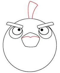 how to draw angry birds bird