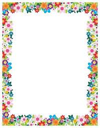 Paper With Flower Border Flower Border Paper Ddplus Co