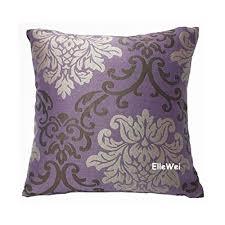 plum throw pillows. Fine Throw Amazoncom ElleWeiDeco Modern Damask Purple Throw Pillow Cover Home U0026  Kitchen In Plum Pillows V