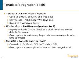 teradatas migration tools teradata etl tools