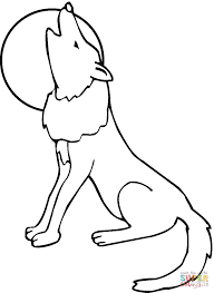 Small Picture Coyote howling moon coloring page Free Printable Coloring Pages