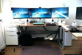 good computer desk for computer table setup computer desk setup with drawer also triple monitors plus wood computer desk best computer desk