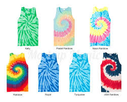 Tie Dye Color Chart Port Company Tie Dye Tank Top Color Chart Mockup Pc147tt Tank Top
