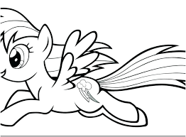 Rainbow Dash Coloring Sheet Rainbow Dash Coloring Pages Free Rainbow