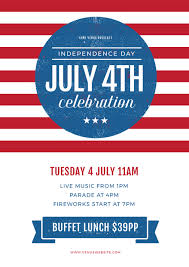 Usa Red Stripes July 4th Celebration Graphic Template Easil