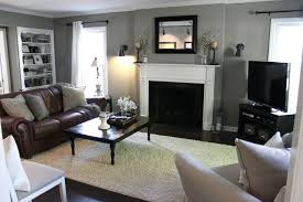 living room blue and brown decorating