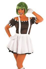 las chocolate factory worker fancy dress costume and wig for roald dahl day delfanc10774