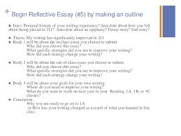 week class ewrt 18 begin reflective essay